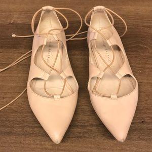 Loeffler Randall beige tan ballet flats 6.5